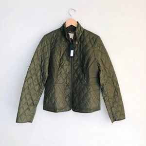Banana Republic Quilted Field Jacket Olive Green L
